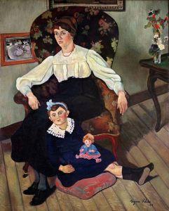 Портрет Марии Кока и ее дочери