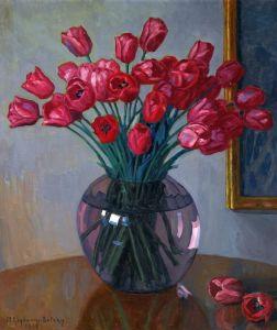 Богданов-Бельский Николай Натюрморт с тюльпанами