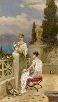 Молодые женщины на террасе
