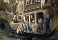 Посадка почетных венецианцев в гондолу