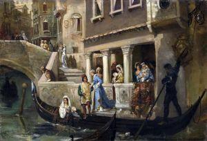 Котарбинский Вильгельм Посадка почетных венецианцев в гондолу