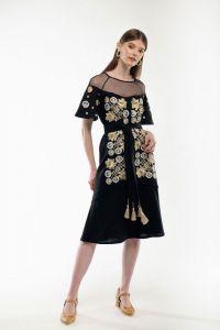 Женские вышиванки Платье вышиванка Ягидка черное
