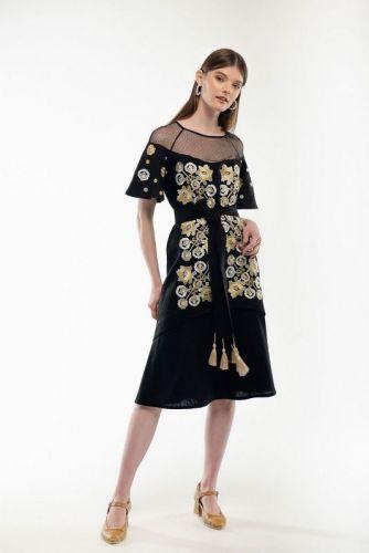 Платье вышиванка Ягидка черное - изображение 1