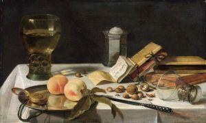 Бароко Натюрморт з Ремер, сільницею, книгами, беркемайером та ін об'єктами