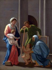 Пуссен Никола Святое семейство со святыми Елизаветой и Иоанном