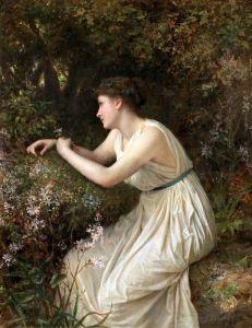 Реализм Молодая женщина в лесу