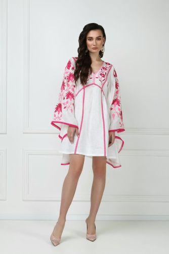 «Линда» белое мини-платье