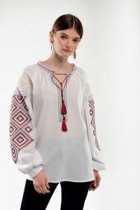 Женские вышиванки Вышиванка женская Сузиря молочная