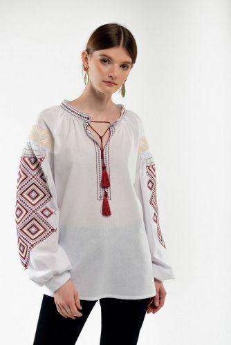 Вышиванка женская Сузиря молочная - изображение 1
