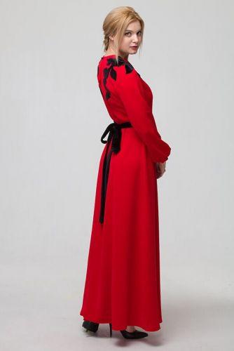 """Сукня вечірня """"Цвіт Ірису"""" червона"""