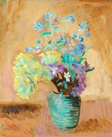 Первоцветы и незабудки в банке