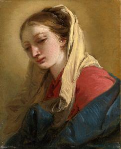 Рококо Марія Магдалина, портрет у три чверті