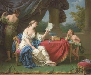 Лагрене Луи Жан-Франсуа Пенелопа читает письмо от Одиссея