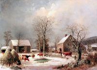 Фермерский двор зимой