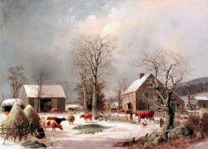 Дуррие Джордж Генри Фермерский двор зимой