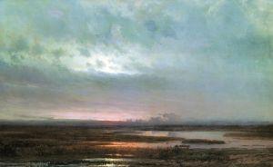 Саврасов Алексей Закат над болотом