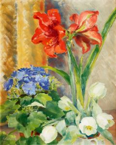 Экспрессионизм Цветочный натюрморт №4