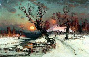 Клевер Юлий Закат солнца зимой