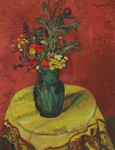 Постимпрессионизм Ваза с цветами на столе