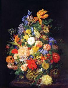 Барокко Букет цветов в вазе