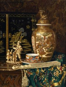 Черноцкий Эрнст Натюрморт с декоративными китайскими предметами