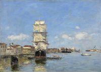 Судно у пристани, Венеция, Канал де-ла-Джудекка