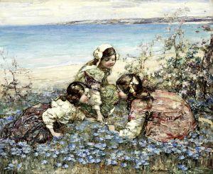 Хорнел Эдвард Аткинсон Сбор цветов, залив Брайхаус