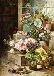 Кошуа Эжен Анри Горшки с цветами