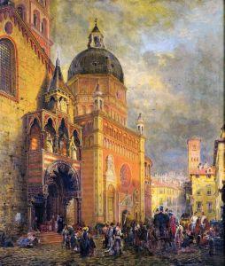 Генри Эдвард Лемсон Village Square