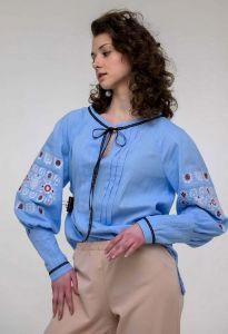 Жіночі вишиванки Вишиванка жіноча Шипіт блакитна