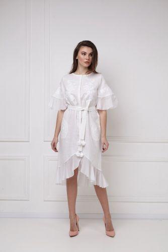 «Дейзи» белое платье-миди
