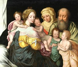 Печатные картины на холсте Святая семья