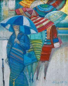 """Украинское современное искусство Из цикла """"Женщины и зонтики"""" - 2"""