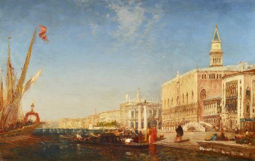 Люди на Набережной поганок, Венеция