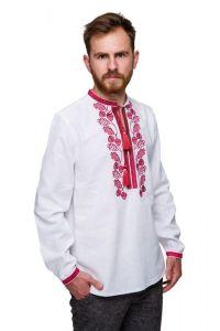 Мужские вышиванки Вышиванка мужская Гром бордо