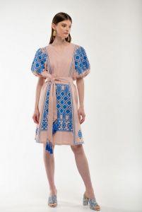 Женские вышиванки Платье вышиванка Мылося пудра