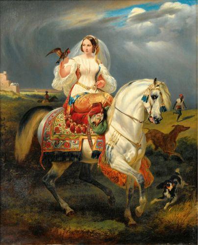 Алжирський мисливець із соколом