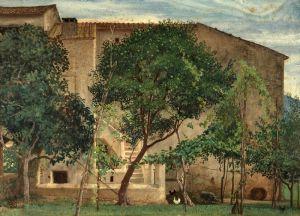 Прерафаэлитизм Итальянский сельский дом
