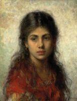 Девушка с красной шалью