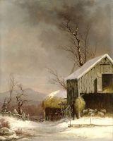 Зимняя сцена на ферме, Коннектикут