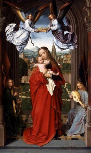 Мадонна с Младенцем и четыре Ангела