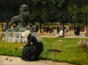 Каран Чарльз Кортни В Люксембургском саду