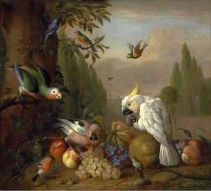 Барокко Птицы и фрукты в парковом пейзаже 2