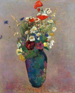 Редон Одилон Видение - ваза с цветами