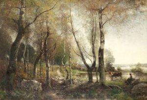 Уолберг Альфред Шведский осенний пейзаж