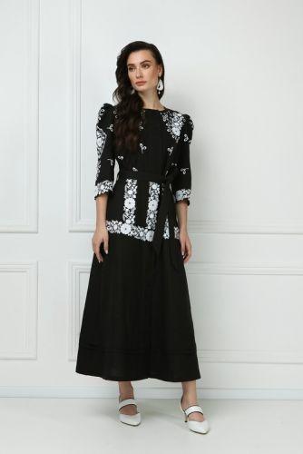 Платье-макси «Эмма» черного цвета
