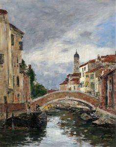 Буден Эжен Маленький канал в Венеции