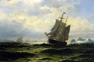 Брэдфорд Уильям Арктические китобои в дороге домой