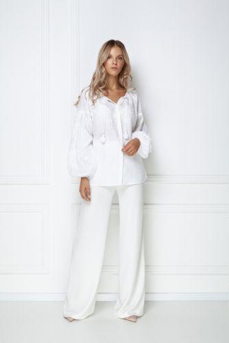 «Жемчужина» белая ювелирная блуза - изображение 1
