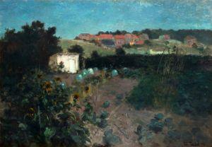 Таулов Фриц Вечерний пейзаж в Па де Кале